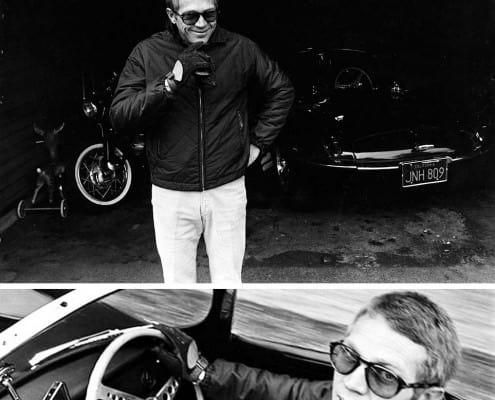 Steve McQueen wearing a jacket similar to a Harrington Jacket without elastics