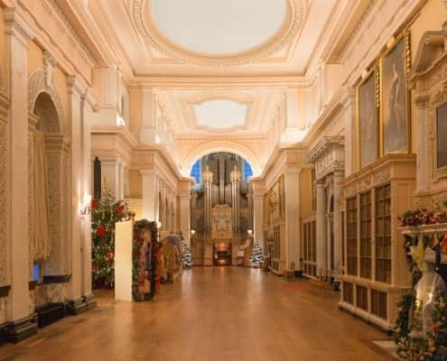 The library at Blenheim Palace used to be place for elegant parties in the 1920s and is now often used for weddings