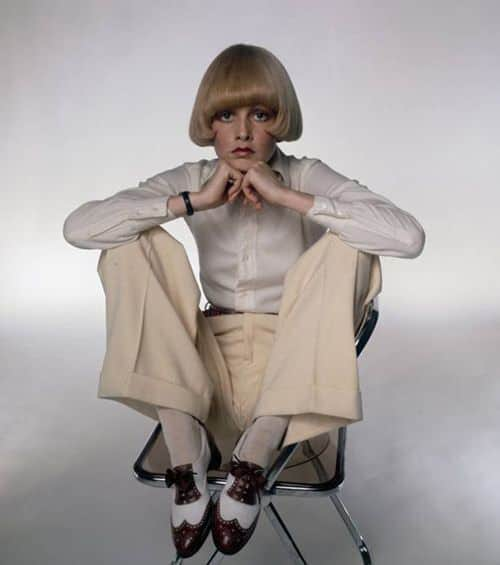 Twiggy in George Cleverly spectator full brogues