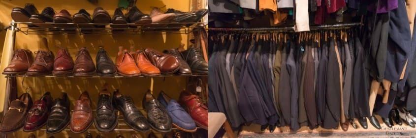 Vintage British shoes, jackets & suits