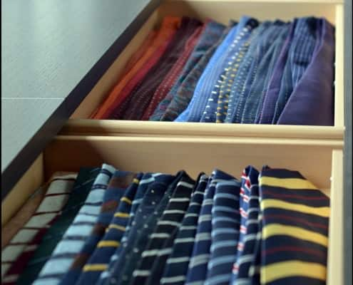 Voxsartoria's ties in drawers