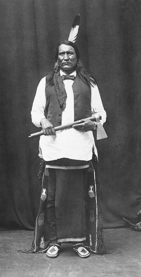 A Cheyenne Indian with Moccasins