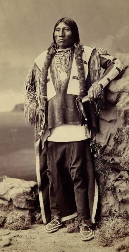 An Unidentified Native American with Moccasins