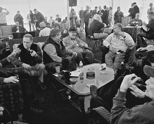 Chicago Pipe Expo smoking tent - credit - The Pipe Guys.com