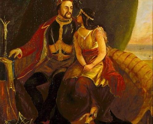 John Rolf and Pocahontas