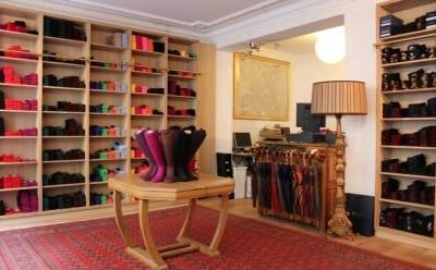 Mes Chaussettes Rouges store at 9 rue César Franck, Paris inside