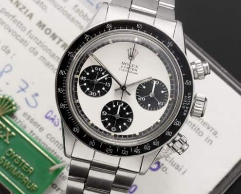 Rolex. A fine and rare stainless steel manual wind chronograph wristwatch