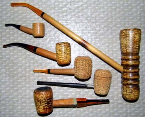 Vintage Corn Cob Pipes, All Labeled Missouri Meerschaum Co., Washington, MO