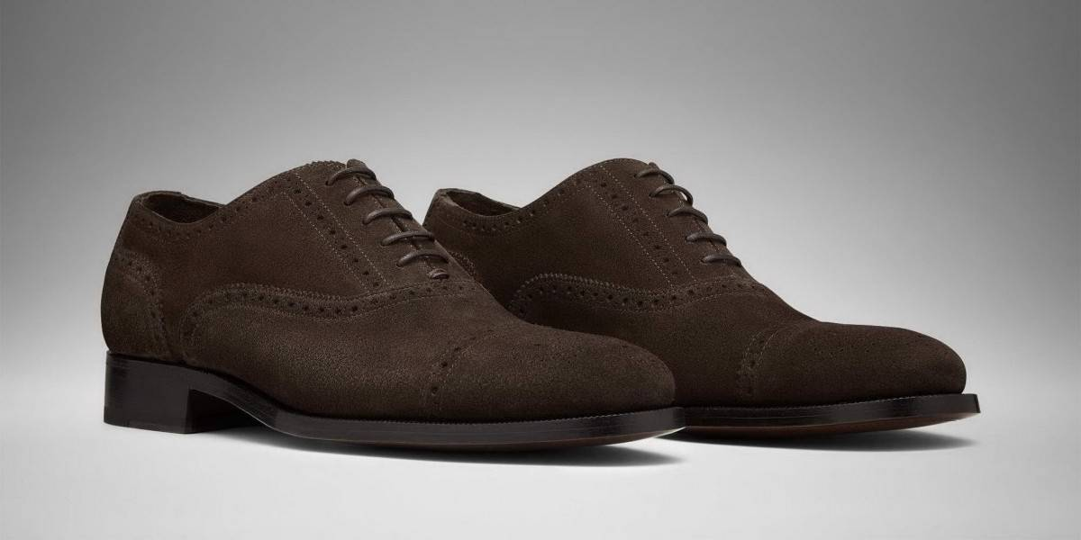 Chocolate Brown Suede Derby Shoes