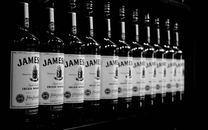 Jameson Irish Whiskey Bottles