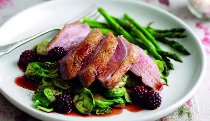 Roasted Duck Breast with Port sauce