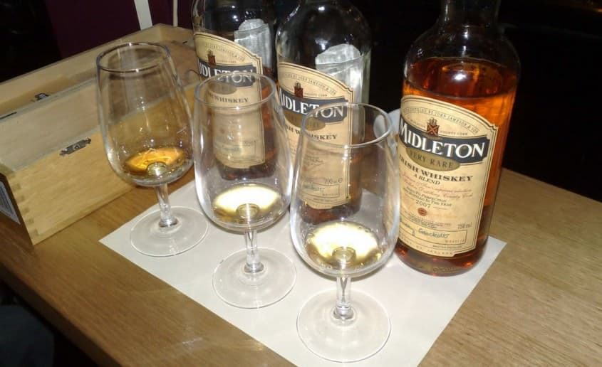 Samples of Midleton Irish Whiskey - Basically you can drink it like Scotch