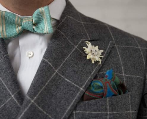 Sangar shirt, Bow Tie, Edelweiss and Pocket Square all Fort Belvedere