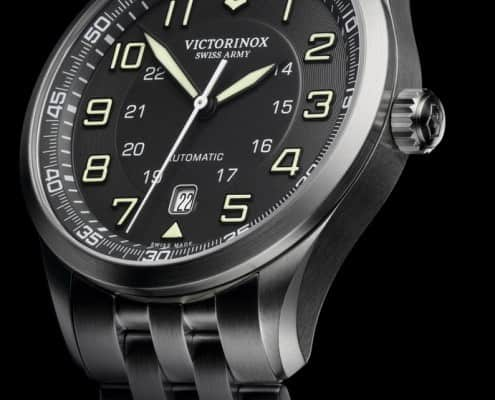 Victorinx Swiss Army Airboss Watch with Black Dial