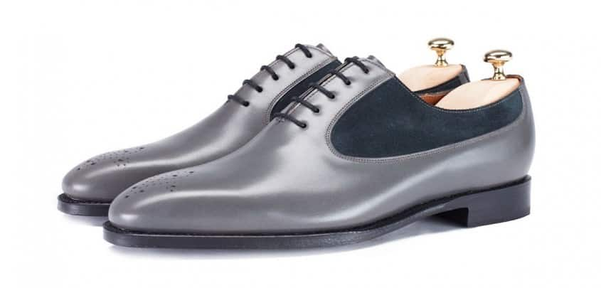 jfitzpatrick Tacoma Wholecut Oxford Variation in grey with charcoal suede inserts