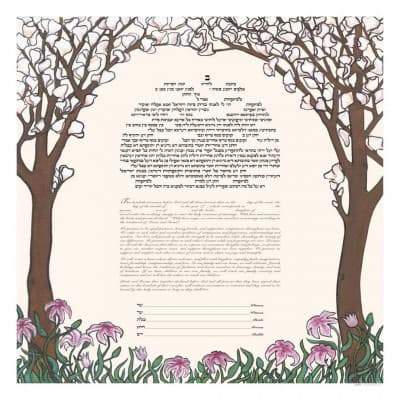 A Ketubah in Hebrew and English