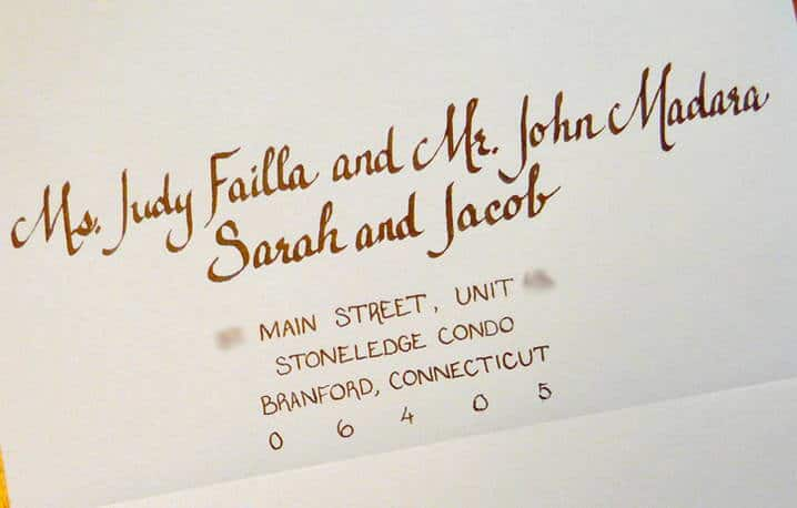 Children will be specifically named in a wedding invitation