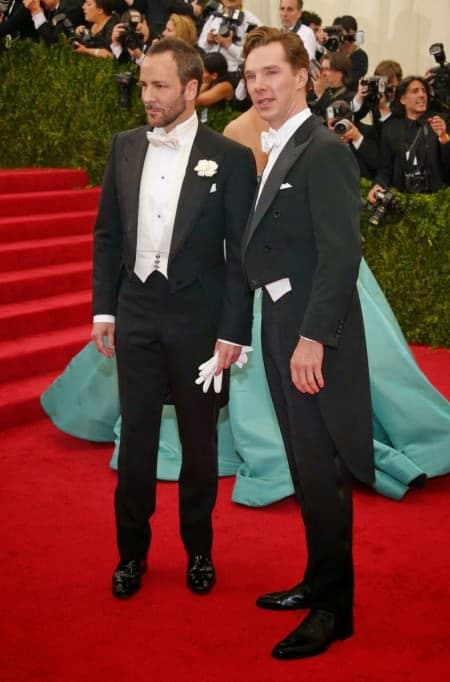 Met Gala 2014 Red Carpet Benedict Cumberbatch and Tom Ford - two of the best dressed men that night