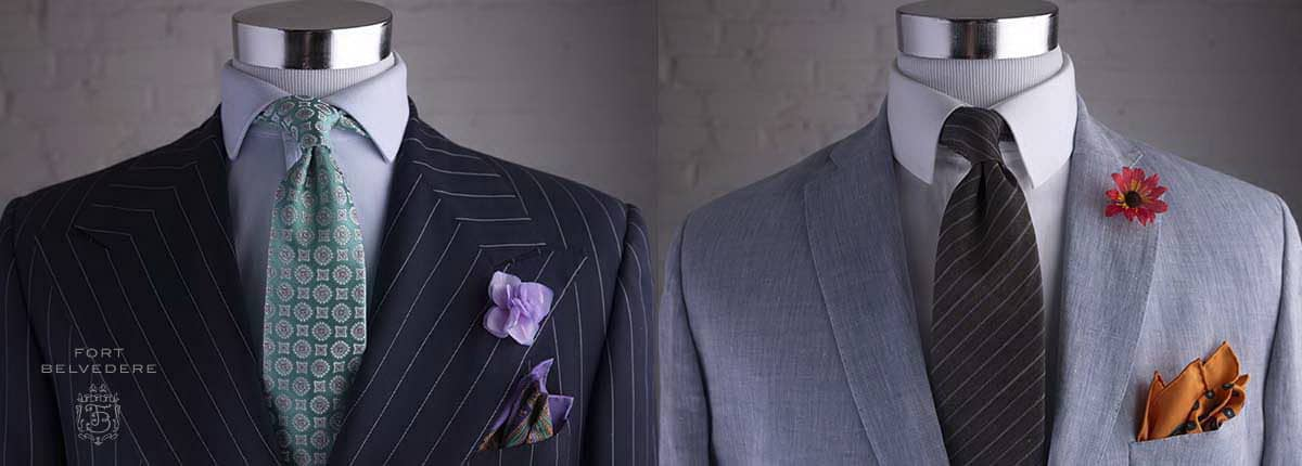446188b0 Fort Belvedere Accessories - How to Combine Pocket Square and Tie or Bow Tie  — Gentleman's Gazette