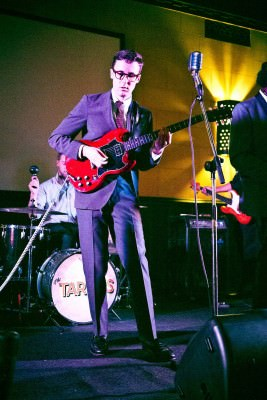 Nick Waterhouse in a vintage suit with Penny Loafers