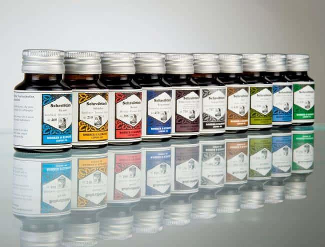 ROHRER KLINGNER Writing Ink in 50 ml bottles