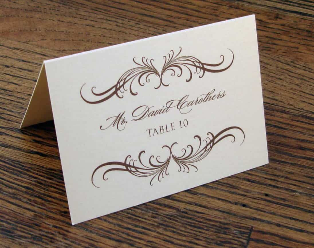 Wedding etiquette the ultimate guide gentleman 39 s gazette for Table place cards