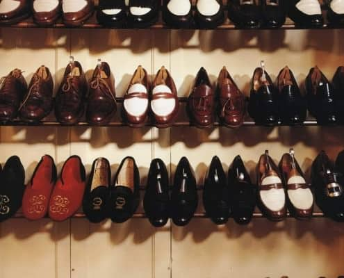 Three Two Tone Penny Loafers and one pair of brown Tassel Loafers in the Duke of Windsor's Shoe Closet