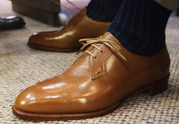 Blucher by Koji Suzuki with shadow stripe socks