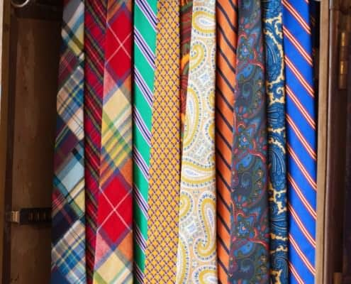 Bold, colorful ties