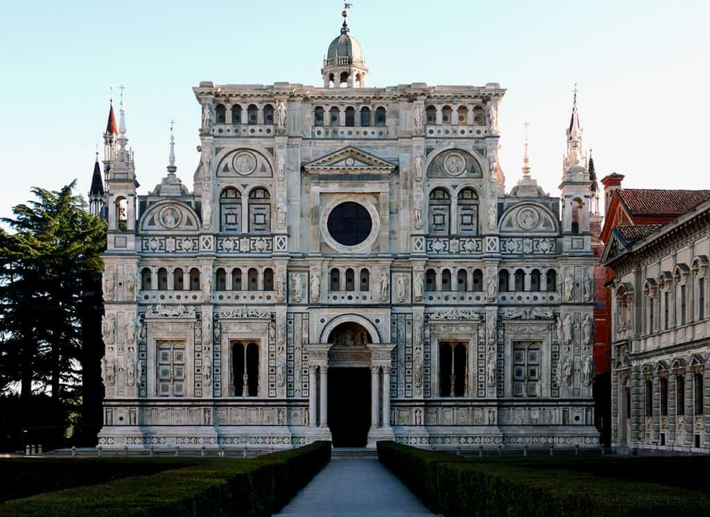 Certosa di Pavia, Pavia, Italy - Typical northen Italian architecture  dominated by decoration and