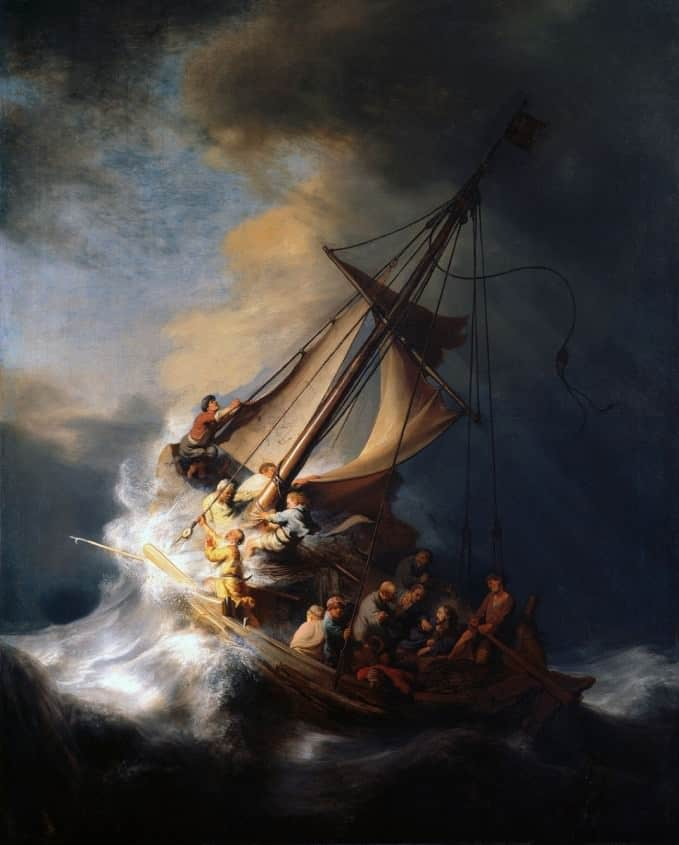 Christ in the Storm on the Lake of Galilee by Rembrandt