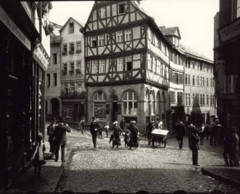 First Leica shot from 1913 by Oskar Barnack made in Wetzlar at the Eisenmarkt