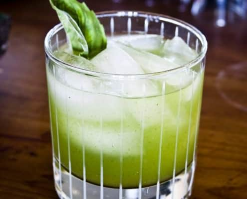 Green Gin Drink
