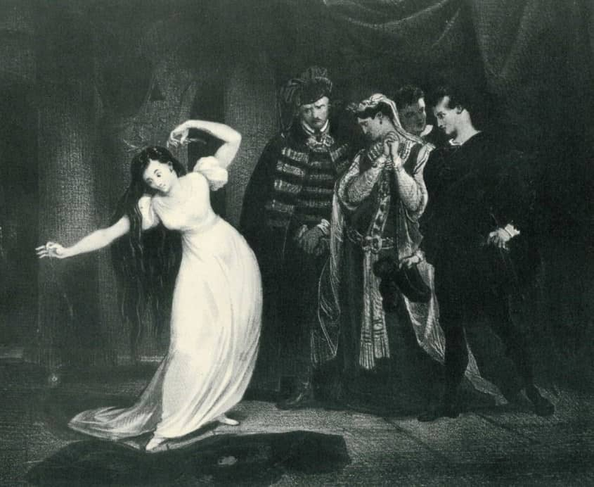 Harriet Smithson portraying Ophelia