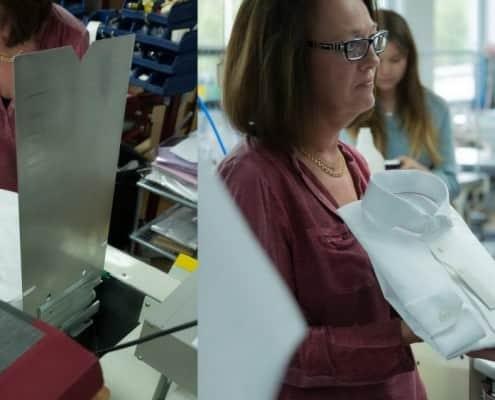 Impressive shirt folding machine by Eton