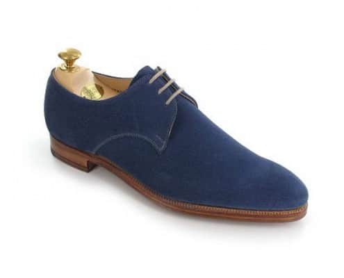 Newquay in suede blue Derby by Crockett & Jones