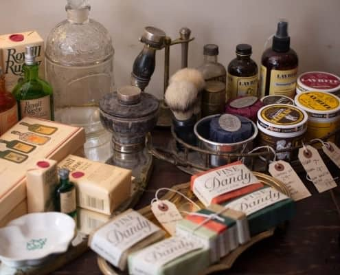 Small selection of soaps and shaving supplies