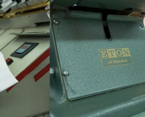 Special Eton Machines for the collar
