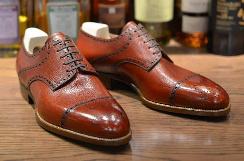 St. Crispin Saddle Half Brogue Derby
