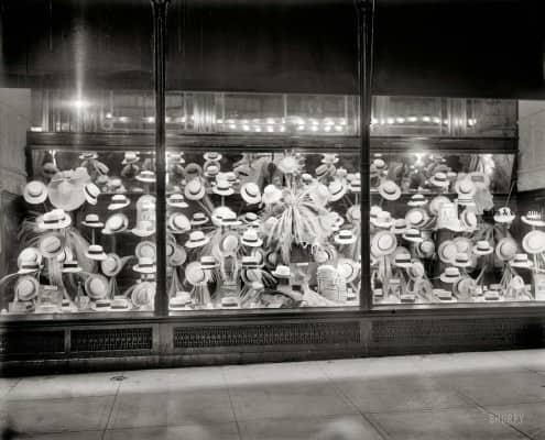 Summer Hat Display Washington D.C. 1919