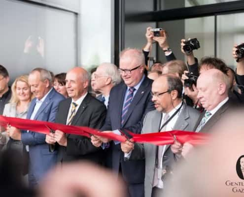 The official inauguration of the Leitz Park