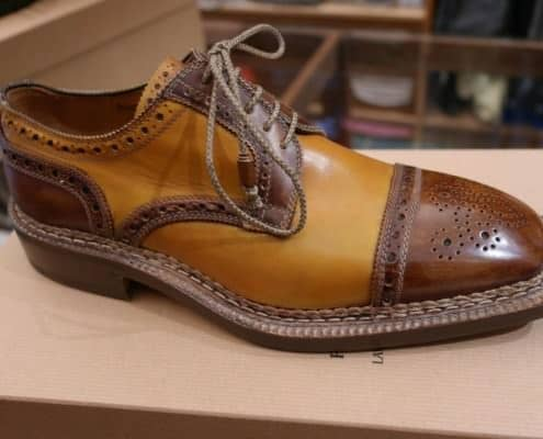 Two Tone Norvegese Derby with thick shoe laces