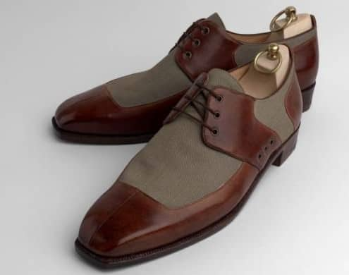 Two tone clothing insert blucher shoes by Carreducker