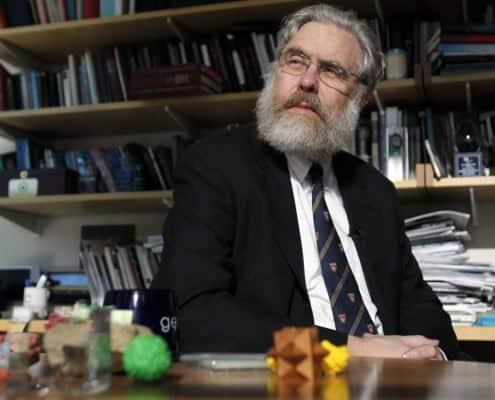 Ivy League style Professor Church wearing Harvard University tie