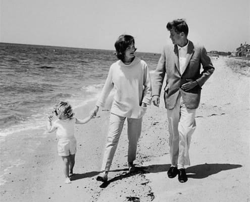 JFK on a beach!