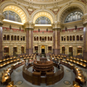 Main Reading Room of the Jefferson building. (Wikipedia)