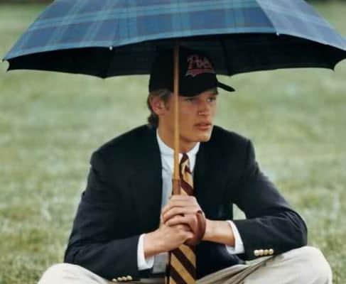 Preppy Style with umbrella
