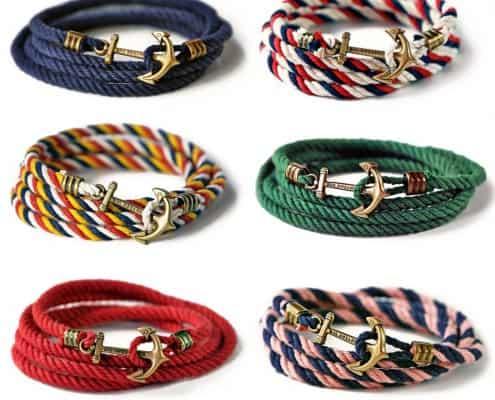 Various anchor bracelets by Kiel James Patrick