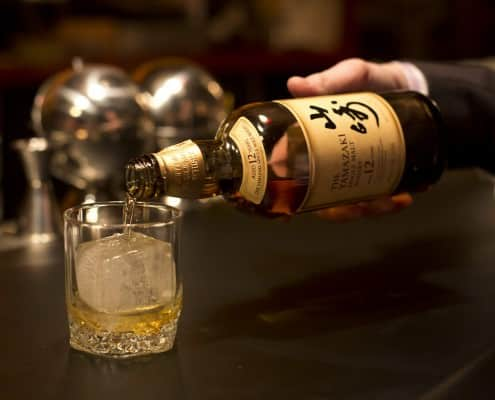 Pouring Japanese Whisky