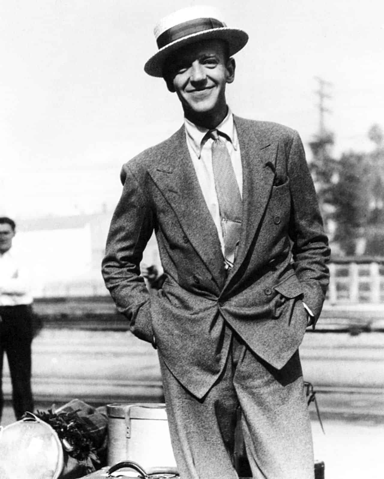 Fred Astaire with Boater and Tie Bar